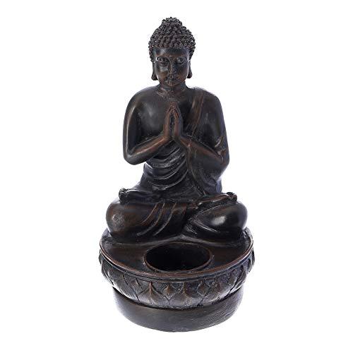 Prime Feng Shui Praying Buddha Candlestick Tealight Holder Vairocana Buddha Figurine Home Decor Statue for - Horse Figurine Medicine