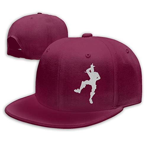 Cejgc Victory Dance Baseball Cap Flat Bill Hat Snapback Hats,Dark Red,One Size ()