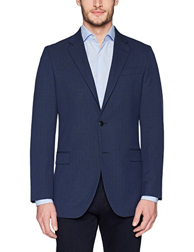 Nautica Men's Bi-Stretch Slim Fit Suit Separate Blazer (Blazer and Pant), Navy Plaid, 42 Short - Mens Suit Separate Coat