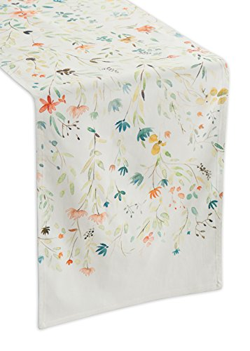 Maison d' Hermine Colmar 100% Cotton Table Runner 14.5 - inch by 72 - inch. Spring Table Runner