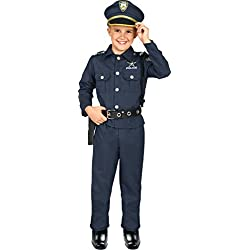 Kangaroo Deluxe Boys Police Costume for Kids, Small