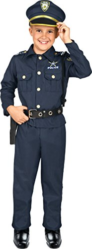 Kangaroo Deluxe Boys Police Costume for Kids, Medium