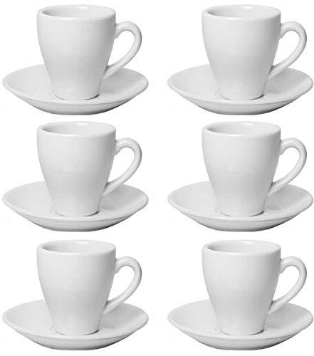 12tlg Set Espressotassen Odense wei/ß Porzellan