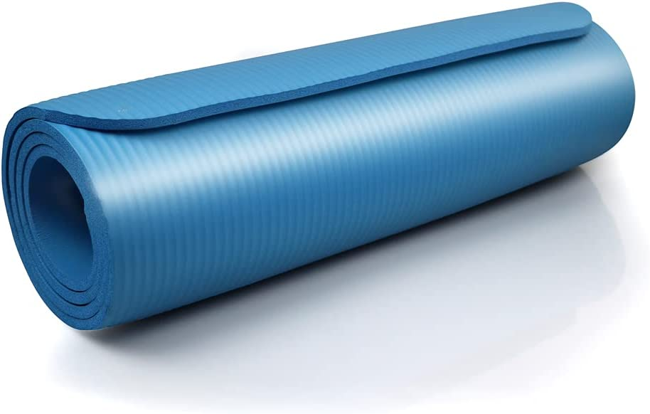 SZYT Yoga Mat 1/3 inch Thick Non Slip for Workout Pilates Exercise Blue