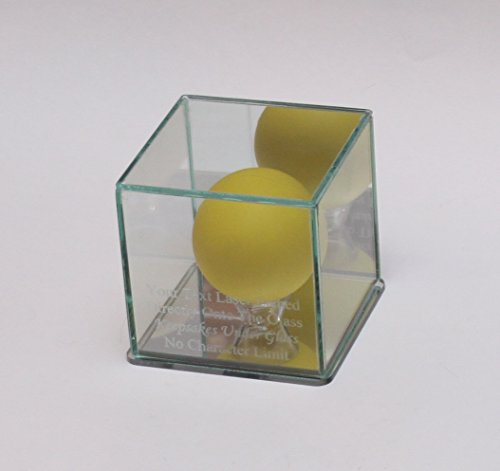 Lacrosse Ball Laser Etched Glass Display Case - Clear