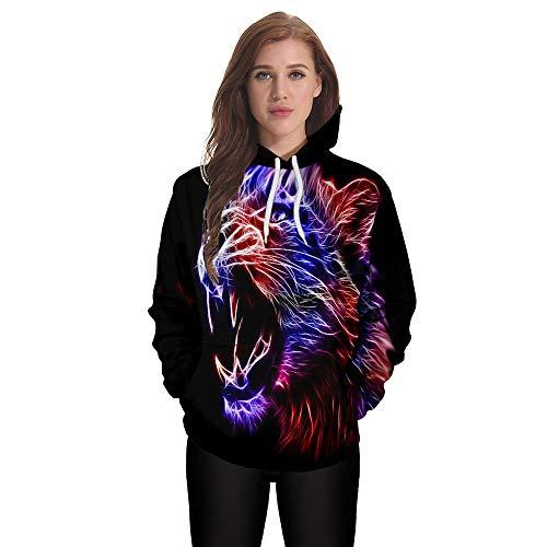 Manches Hiver Manteau ALIKEEY Sweatshirt Blanche Longues Taille 3D Hiver Grande Femme Chemise Noir Casual Femme Impression Blouse Automne xSOSpv