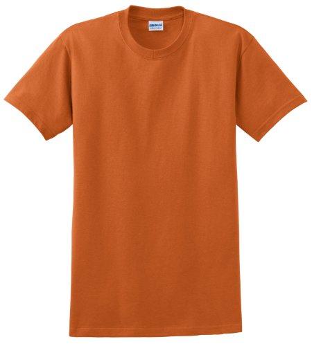 Arancio Uomo Maglietta Gildan Texas Cotone 100 1URZxqI