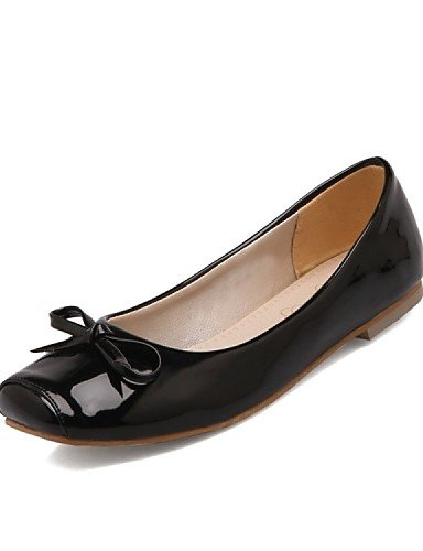 PDX/ Damenschuhe - Ballerinas - Büro / Lässig / Party & Festivität / Kleid - Kunstleder - Flacher Absatz - Komfort / Quadratische Zehe - , black-us10.5 / eu42 / uk8.5 / cn43 , black-us10.5 / eu42 / uk