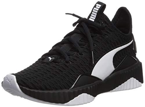(PUMA Women's Defy Sneaker, Black Whit, 7.5 M US)
