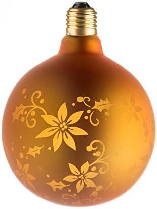 Leuchtmittel Lampe Deko gold Blume G125E27–Mehrfarbig