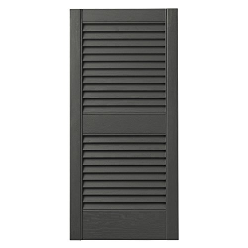 Ply Gem Shutters and Accents VINLV1525 93 Louvered
