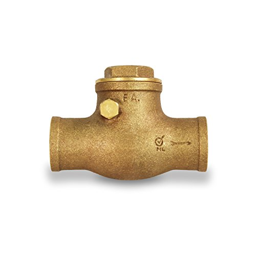 Everflow Supplies 210C034-NL Sweat Brass Swing Check Valve 3/4 Inch - Lead Free