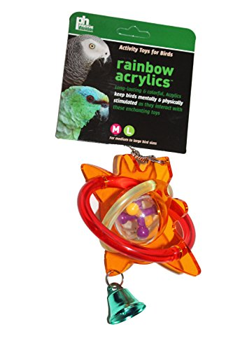 Prevue Pet Products Rainbow Acrylic Earth Toy