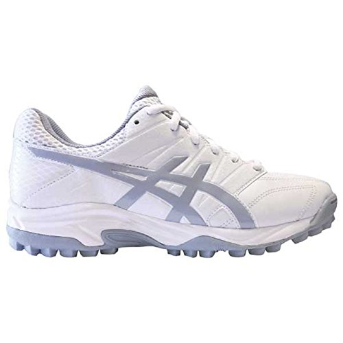 ASICS Women's Lethal MP7 Field Hockey Shoes, Mid White/Grey Ea, Size 8.5