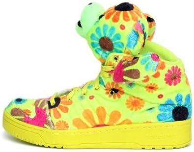 Peregrino Ilustrar deuda  Amazon.com | Adidas JS Jeremy Scott Bear High Top Shoe, G61076, Slime/Macaw  STILLGREE 9 D(M) US | Shoes