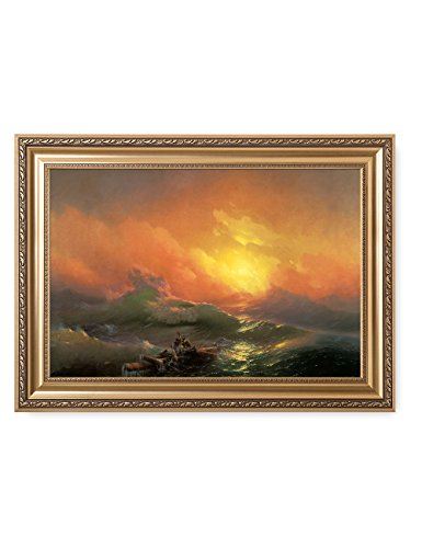 Paintings Of Russia (DecorArts - The Ninth Wave by Ivan Konstantinovich Aivazovsky. The World Classic Art Reproductions. Giclee Print with Matching Museum Frame. 30x20