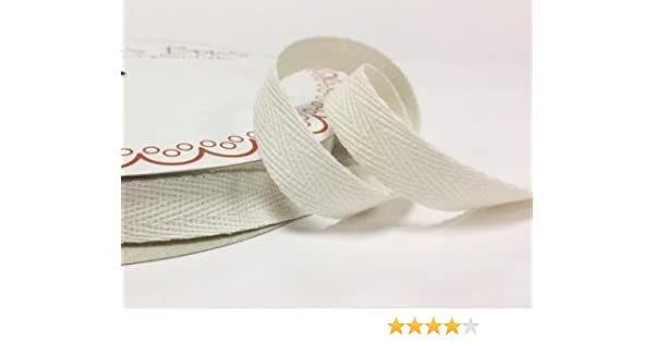 Berties Bows Cinta de espiguilla de algodón de color marfil de 10 mm, 4 m de longitud (nota: este es un corte de rollo, presentado en una tarjeta de Berties Bows): Amazon.es: