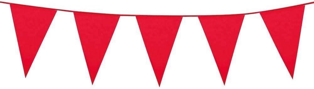 Boland – Guirnalda con banderines 45x30 (XL) rojo: Amazon.es: Juguetes y juegos