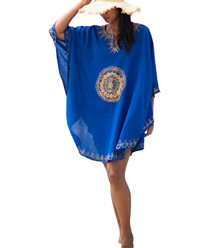Sun Society Towels (Swimsuit Cover Up - Royal Blue)