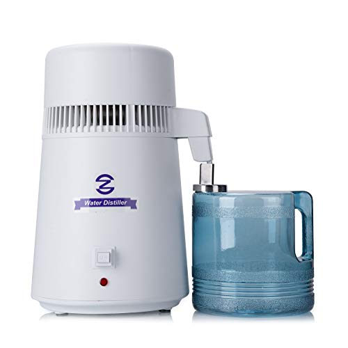 CO-Z 4 Liter Water Distiller, Distilling Pure Water Machine Home Countertop Table Desktop, 4L Distilled Water Making Machine, FDA Approved Water Purifier to Make Clean Water Home Use