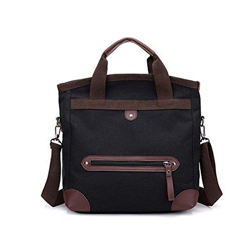 Multifunctional Canvas Bag, JOSEKO Fashion Travel Tote Bag Beach Bag Shoulder Bag Holiday Shopping Bag for Women Men Khaki Black
