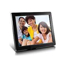 "Aluratek 12"" ADMPF512F High Resolution Digital Photo Frame with 4 GB Built in Memory, Black"