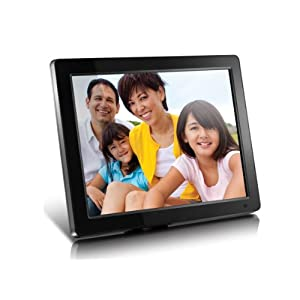 "Aluratek (ADMPF512F) 12"" Hi-Res Digital Photo Frame with 4GB Built-In Memory and Remote (800 x 600 Resolution), Photo/Music/Video Support, Wall Mountable"