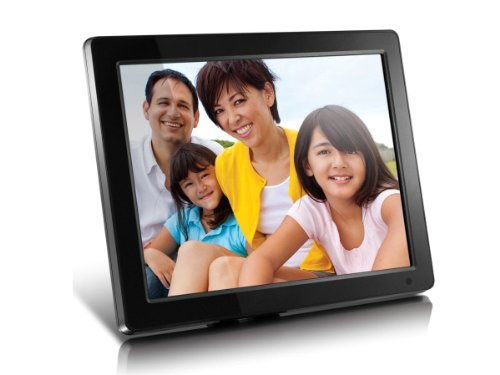 Aluratek (ADMPF512F) 12'' Hi-Res Digital Photo Frame with 4GB Built-In Memory and Remote (800 x 600 Resolution), Photo/Music/Video Support, Wall Mountable by Aluratek