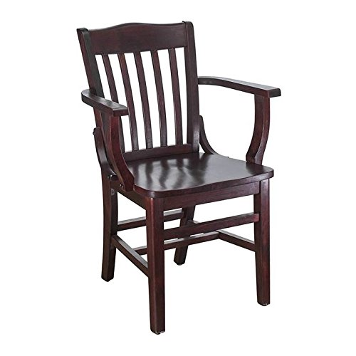 - Beechwood Mountain BSD-2A-Dm Solid Beech Wood Arm Chair in Dark Mahogany for Kitchen & Dining