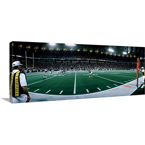 GREATBIGCANVAS Gallery-Wrapped Canvas Entitled Hubert H Humphrey Metrodome Minneapolis MN by 60