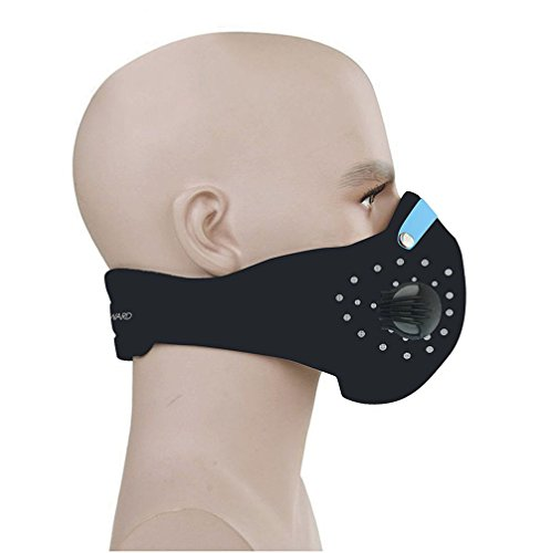 CFORWARD Dustproof Mask Activated Carbon Filtration Exhaust Gas Anti Pollen Allergy PM2.5 Face Mask for Running Cycling and Other Outdoor Activities (Breather Mask)