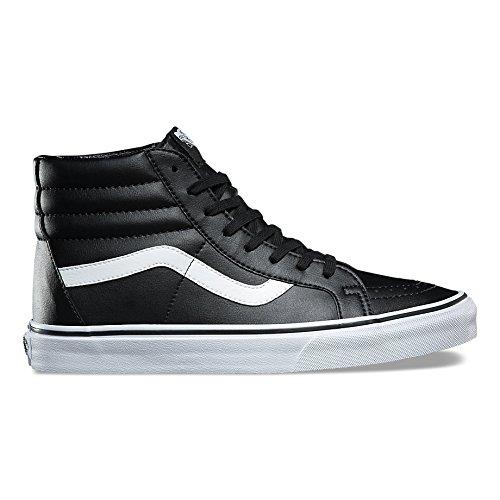 Vans Unisex Sk8-Mid Reissue (Classic Tumbler) Skate Shoe 12 (Mens High Black Top Leather Shoes)
