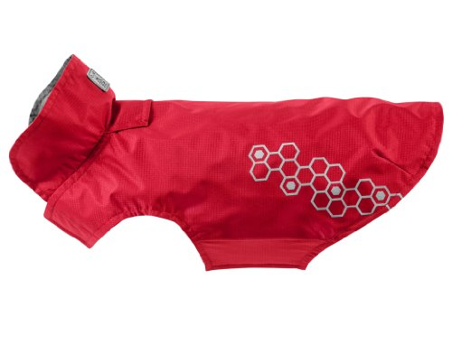 RC Pet Products Venture Shell Reflective, Water Resistant Dog Coat, Size 24, Crimson by RC Pet Products