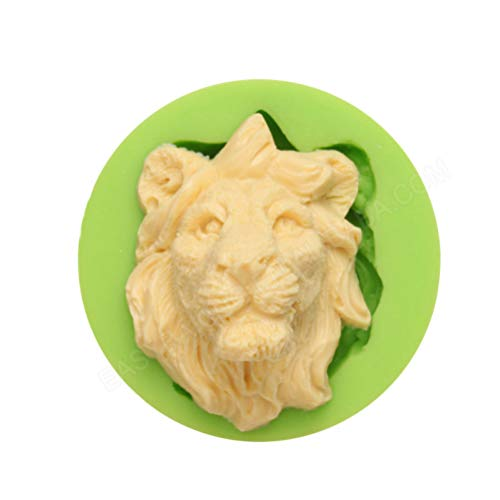 Cute Small Lion Head Shape Funny DIY 3D Fierce Animal Silicone Mold Making Ice Block Candy Fondant Chocolates Soap Cake Mousse Jelly Candle Decor Tool