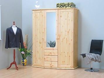 Spiegel Kleiderschrank Kiefer Massiv Mit 3 Türen