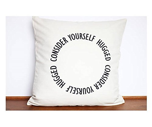 Consider Yourself Hugged pillowcase | Hug for Mom | Personalized Send a Hug | Unique Family Gift | I love you | Perfect for Far Away Friend