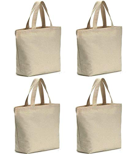 Axe Sickle 4 per pack 12oz Heavy Natural Canvas tote bag 16