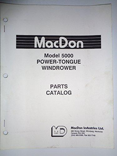 (MacDon 5000 Power Tongue Windrower Parts Catalog Book Manual 12992)