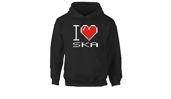 Idakoos I love Ska pixelated - Musica - Sudadera con capucha para niña: Amazon.es: Ropa y accesorios