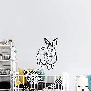 guijiumai Habitación de los niños Tatuajes de Pared Lindo Conejo ...