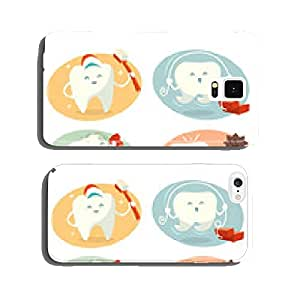 Cute tooth in different situations. Vector illustration. cell phone cover case iPhone6