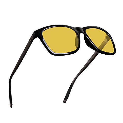 Mens Womens Classic Retro Night Vision Driving Polarized Yellow Sun Glasses Anti-glare Rain - Men Glasses For Driving