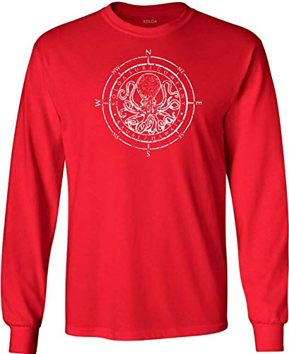 Koloa Octopus Logo Heavy Cotton Long Sleeve T-Shirts in Regular, Big & Tall