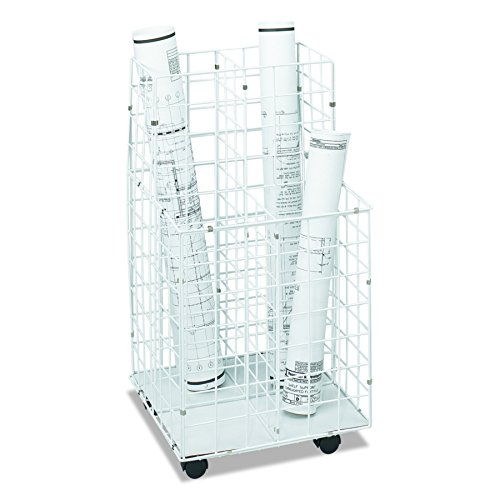 Safco Products 3084 Wire Roll File, 4 Compartment, White ()