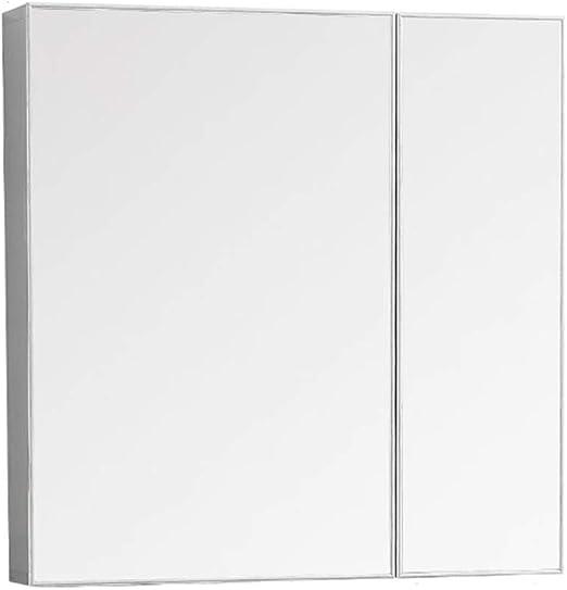 Espejo de baño de doble puerta Espacio de gabinete Espejo de ...