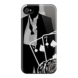 Shock Absorption Cell-phone Hard Covers For Apple Iphone 4/4s With Support Your Personal Customized Attractive James Bond Skin RobAmarook