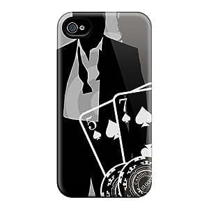 Anti-Scratch Hard Phone Cases For Apple Iphone 4/4s With Custom Nice James Bond Series RandileeStewart