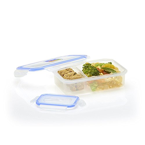 Large Box Use Multi - Plastic Air-tight Lunch Tiffin Box, multiuse- for Children Kids School/Students/Office (Bue)