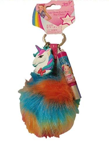JoJo Siwa Unicorn Rainbow Pom Lip Gloss Keychain