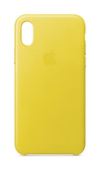 hot sale online b7420 59d74 Apple Leather Case (for iPhone X) - Spring Yellow